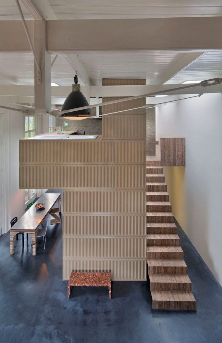 What do you do if you have a wooden office building from the 1950s on your property next to a former coach house from 1895? If you're architect and designerRolf Bruggink, you see an opportunity to transform an historical building using materials from another space.With the help of fellow architect and designer Niek Wagemans, Bruggink refitted the coach house using materials from the 1950s building, which he'd knocked down after purchasing the property in 2011. Dubbing it House of Rolf…