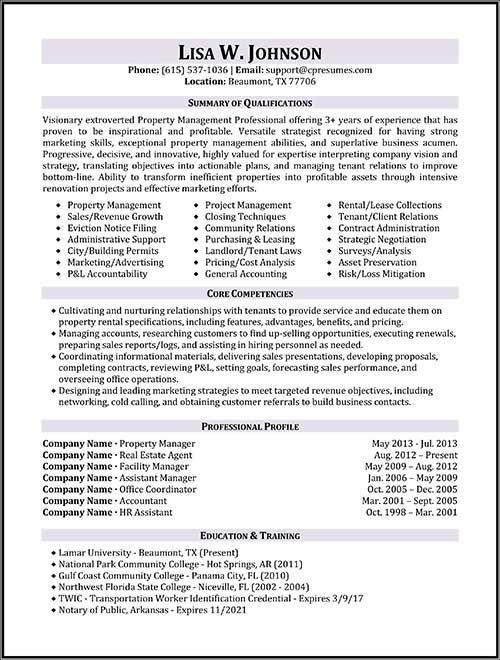 Property Manager Resume Sample \u2026 resume e\u2026