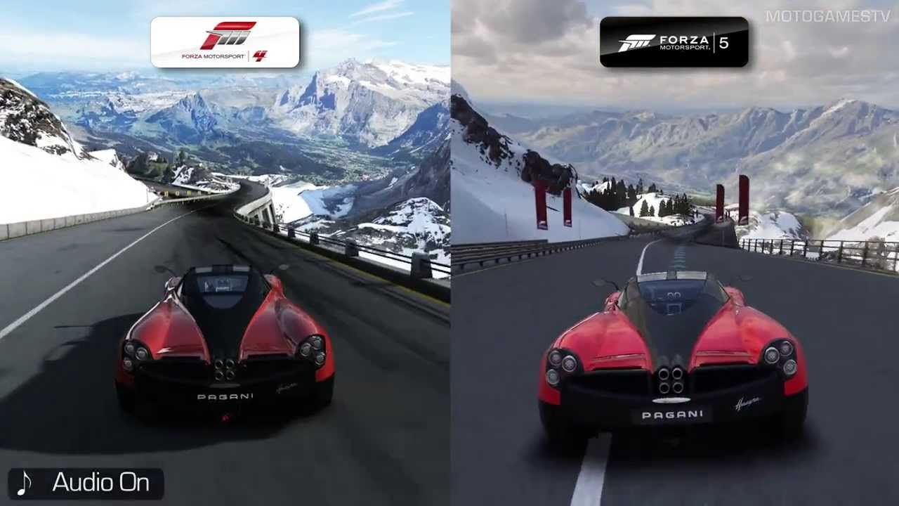 Forza Motorsport 4 vs Forza Motorsport 5 - Bernese Alps