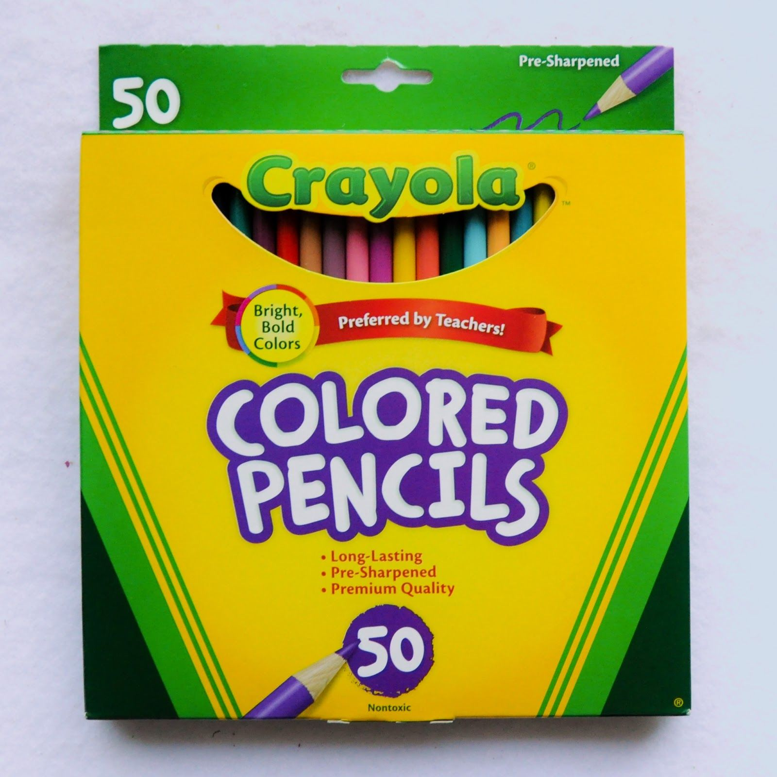 Nothing like a box of 50 Crayola colored pencils!