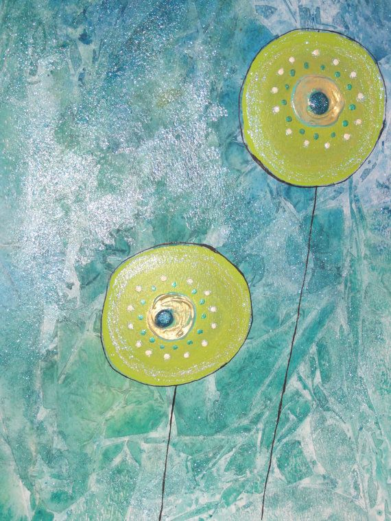 Modern Abstract Art Watercolor Acrylic Painting by LamArtStudio, $45.00