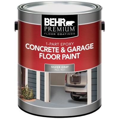 Behr Behr 1 Part Epoxy Concrete Garage Floor Paint Silver Gray 3 79l The Home Depot Canada Garage Floor Paint Painted Concrete Floors Painted Floors