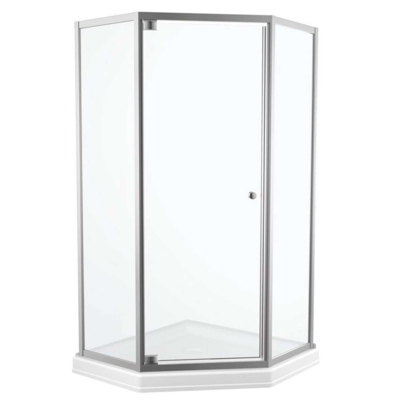 Delta 26 In W X 67 1 2 In H Framed Chrome Hinged Shower Door
