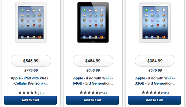 iPad discounts via Best Buy- may be time to do some iPad shopping...Hello!