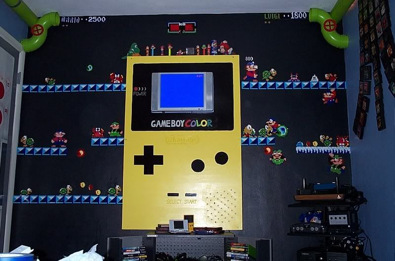 Nintendo mario bros themed room iam klov coin op for Bedroom designs games