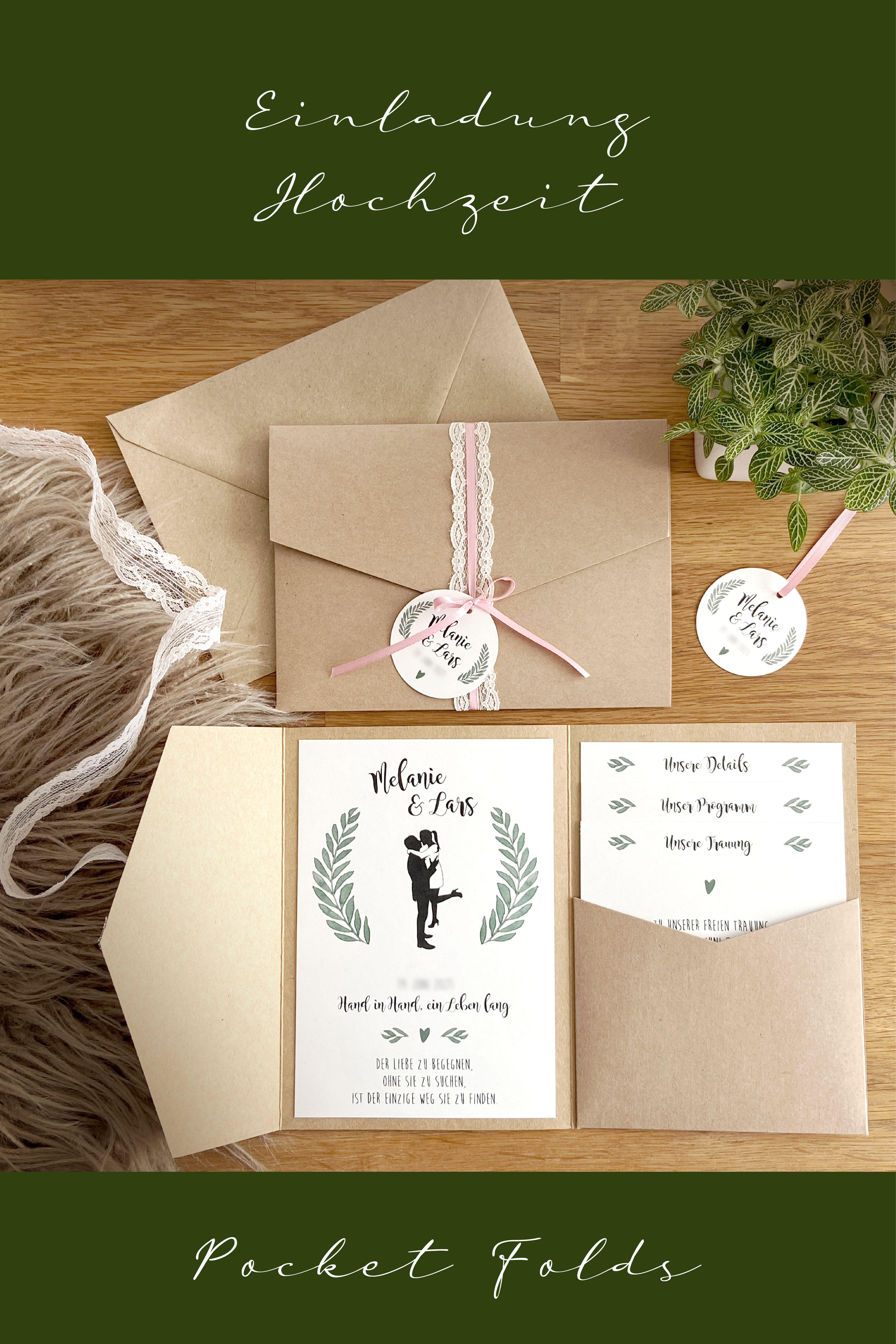 Pocket Fold Liebe Einladung Zur Hochzeit Gift Wrapping Gifts