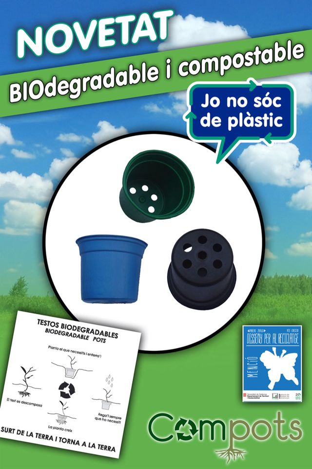 COMPOTS macetas biodegradables y compostables