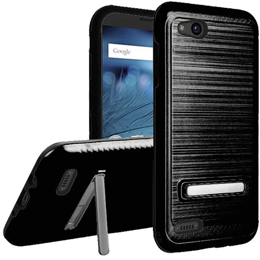For ZTE ZFive G C Z557BL Z558VL Lining Stand Case Phone Cover