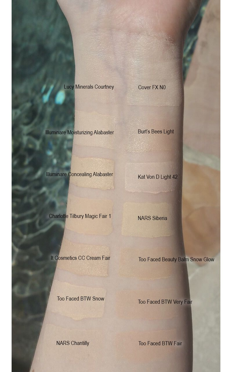 Cruelty Free Pale Foundation Swatches Pale Foundation