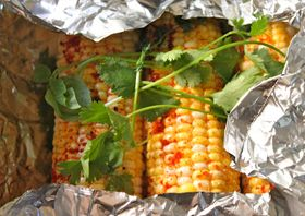 Spicy Cilantro Corn on the Cob