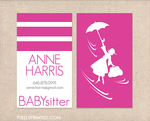 Babysitter Business Cards Nanny Business Cards Au Pair Business Cards Child Card Business Cards Nursery Business Childcare Business Cards Babysitter Cards