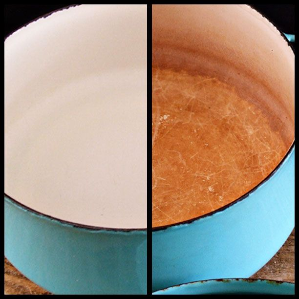 Step by step tutorial on cleaning vintage enamel ware - don't pass up that grungy vintage piece ...