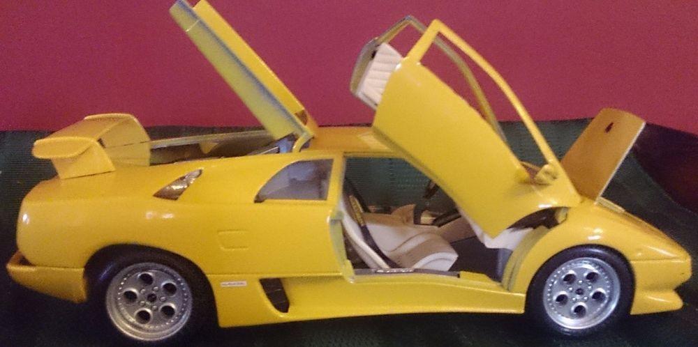 Bburago Lamborghini Diablo 1990 1 18 Scale Die Cast Model Yellow