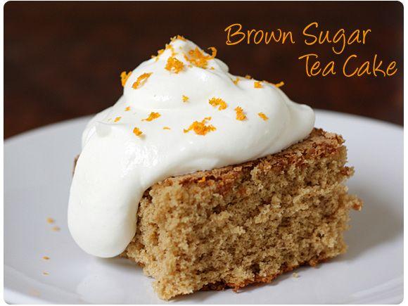 Light & Flavorful Brown Sugar Tea Cake