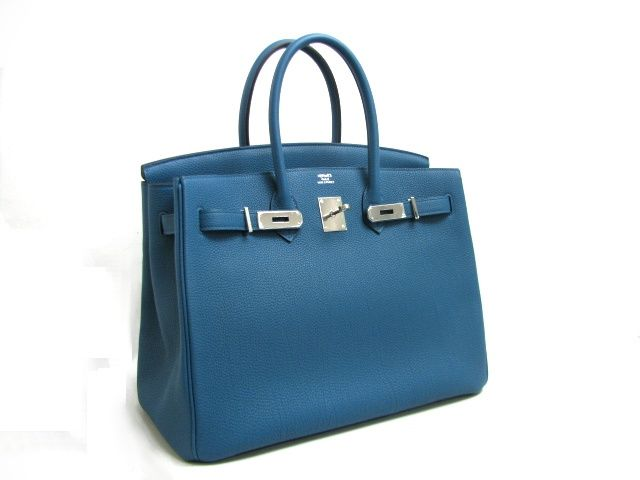 bd8c43fb6b10 Hermes Birkin Size  30 CM Color  Cobalt (2012 New Color) Leather  Togo  Hardware  Palladium Year  2012 (P Stamp) It s a pretty color that s not too  dark but ...