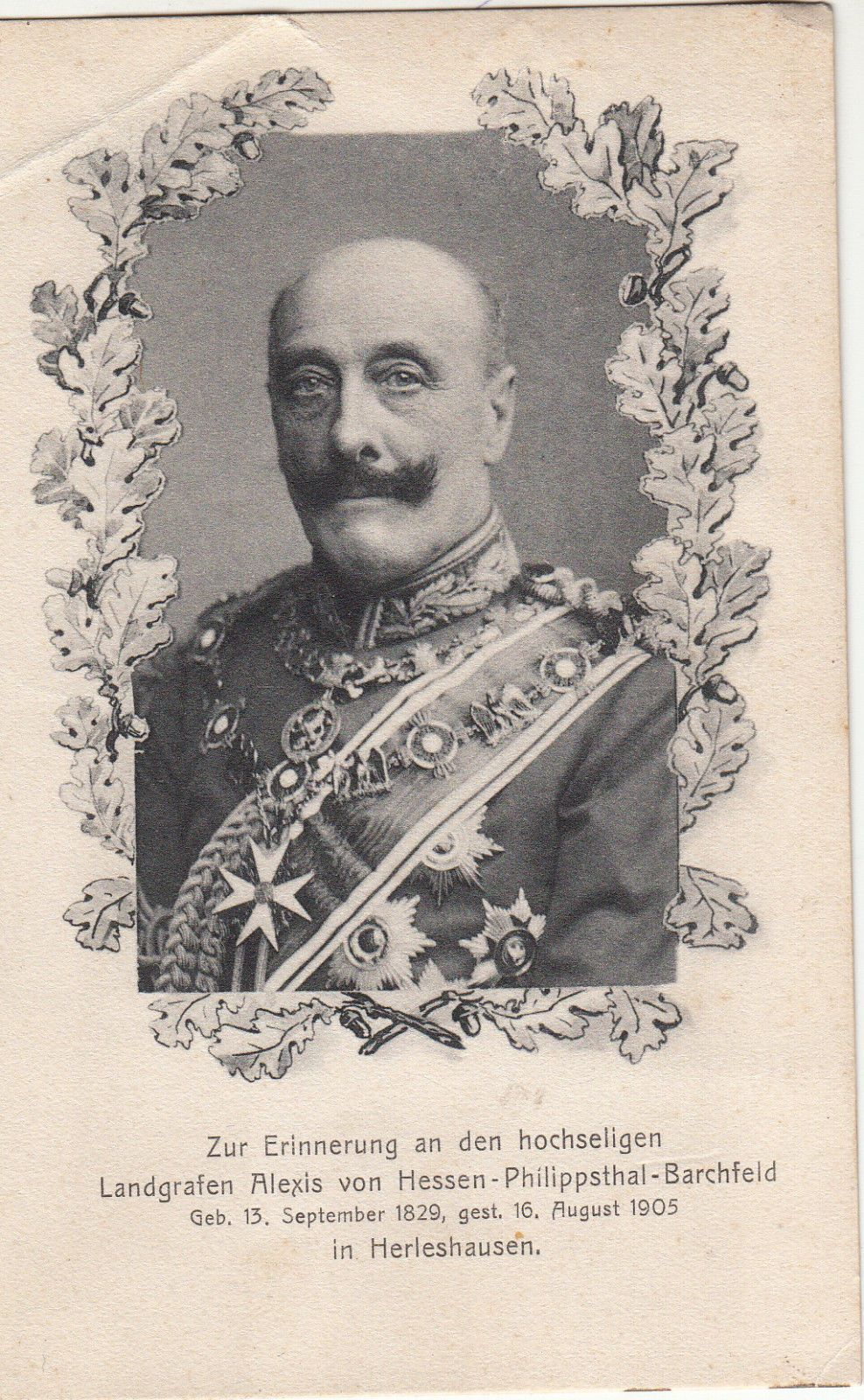 Alexis Landgrave Of Hesse Philippsthal Barchfeld Wearing The Collars Of The Orders Of The Black Heiliges Romisches Reich Konigreich Preussen Romisches Reich