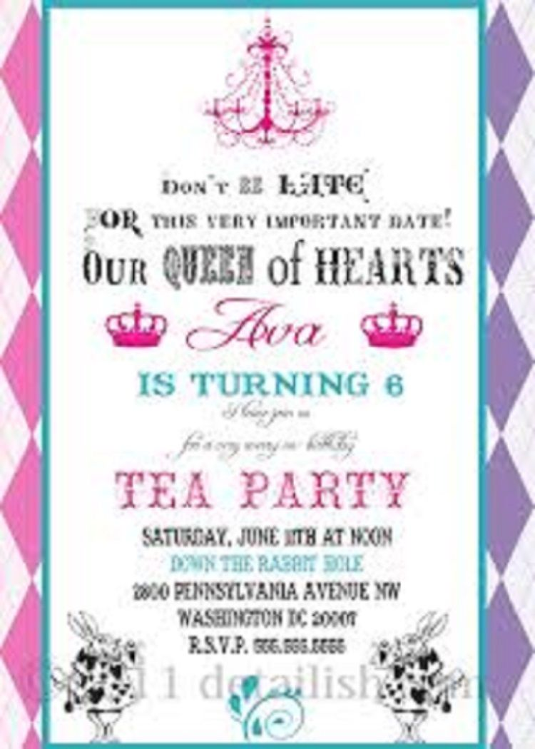 Unique Birthday Invitation For Message Party Ideas Party Tea