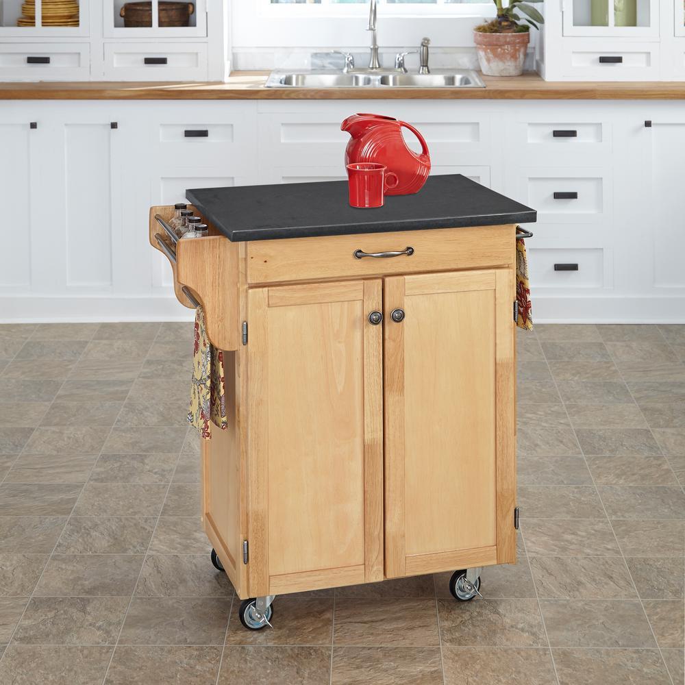 Homestyles Cuisine Cart Natural Kitchen Cart With Quartz Top 9001 0109 Small Kitchen Cart Kitchen Cart White Kitchen Cart