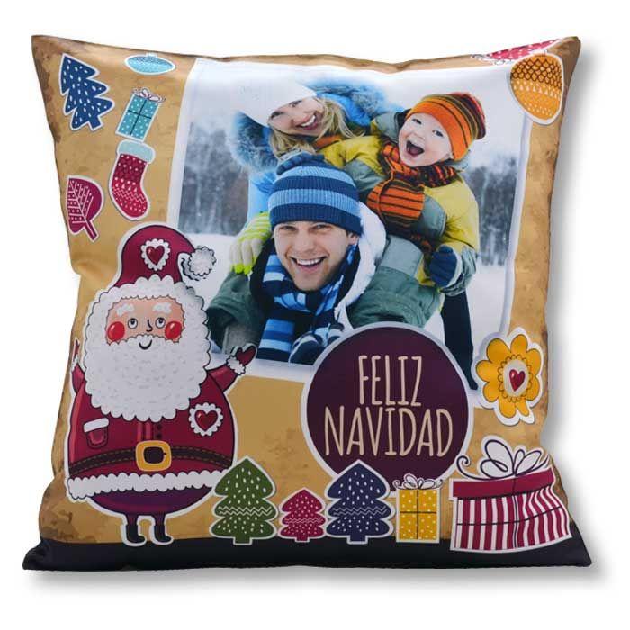 Cojín navideño Santa retro | Cojines navideños, Motivos