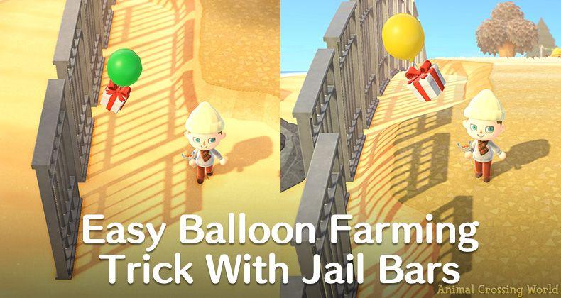Farm Diy Recipe Balloons Easy Using Jail Bars Wall Trick In Animal Crossing New Horizons Guide Animal Crossing World In 2021 Jail Bars Animal Crossing Wall Bar