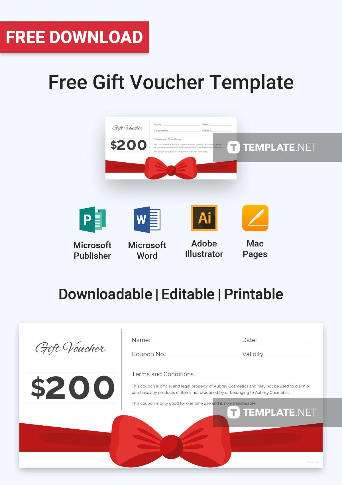 free gift voucher free voucher templates pinterest free gift