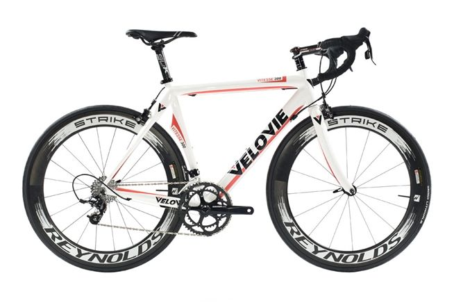 Vitesse 300 w/ SRAM Apex (Red/White)   Custom Carbon Fiber Road Bikes   VeloVie Bicycles