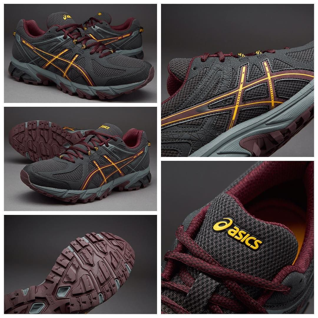 new product bfb72 b271f Asics Gel-Sonoma - Black Royal Burgundy Spectra Yellow قیمت  تومان حراج