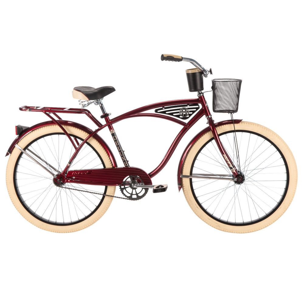Mens Cruiser Bike Beach Road Bicycle Vintage Fixed Gear Coaster Brakes Red  Huffybicycles