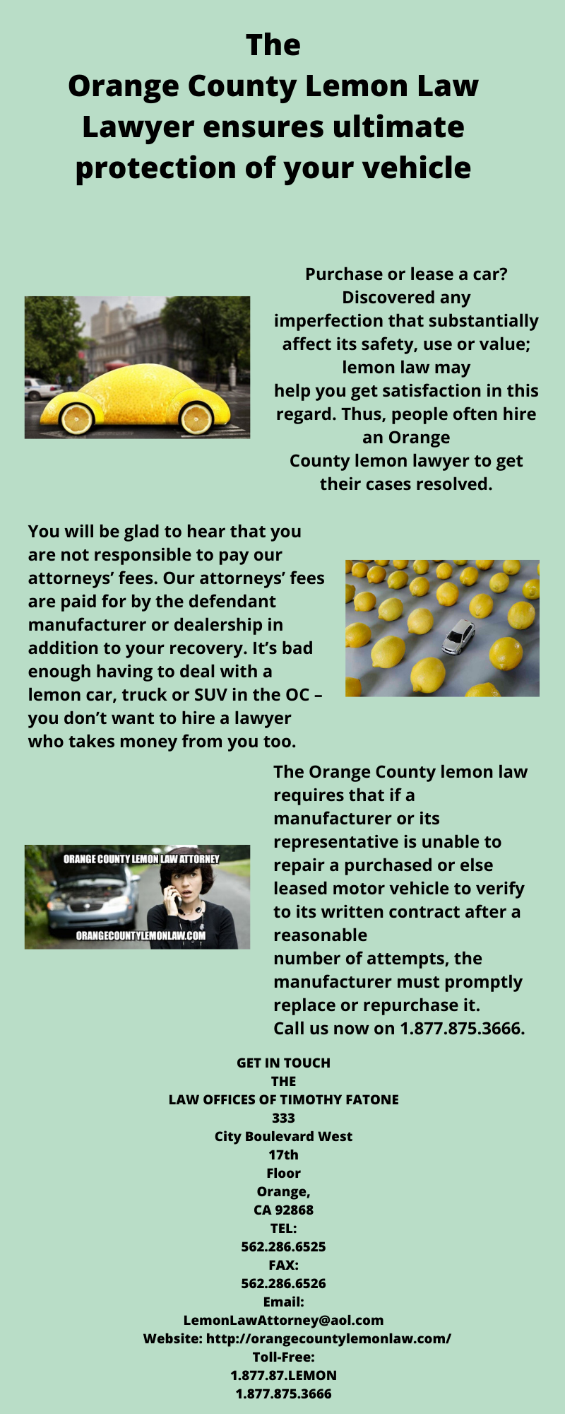 The Orange County Lemon Law Lawyer Ensures Ultimate Protection Of Your Vehicle Lemon Law Orange County Protection