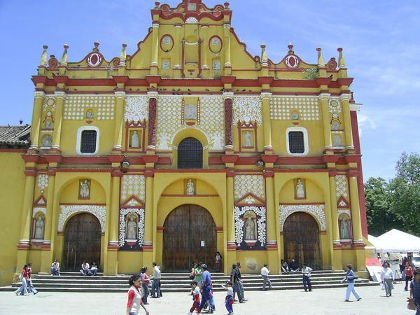 Central square in San Cristobal de las Casas, Chiapas