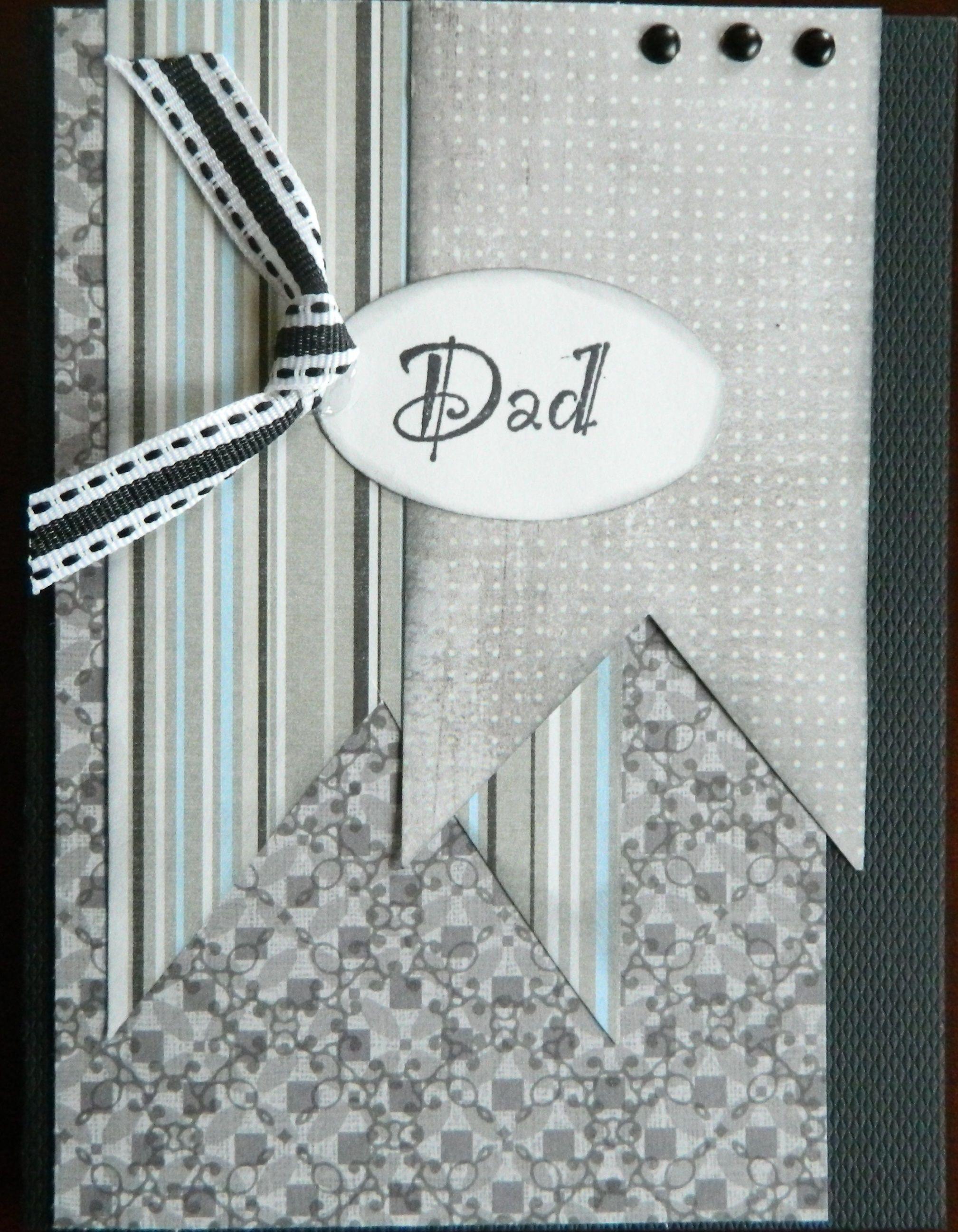 like the shape paper contrasts, brads, tag - dad - Scrapbook.com