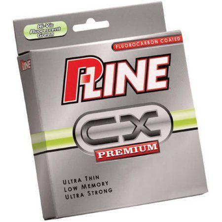 P-Line CX 10# 300-Yard Spool, Hi Vis Green, Multicolor