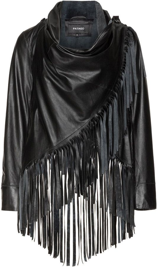 enjoy discount price classic style of 2019 clear and distinctive Patago Plus Size Fringed leather jacket | plus size divas ...