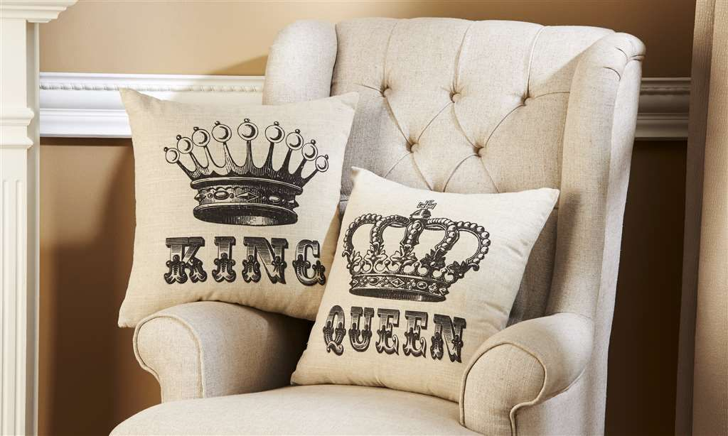 Pin By Conger's Bradley Hall Furniture On Home Decor Pinterest Mesmerizing King And Queen Decorative Pillows