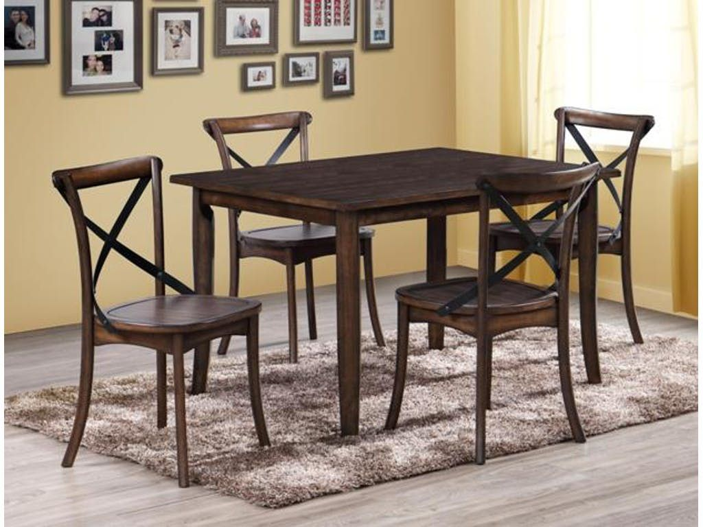 Room Farris Rectangle 5 Piece Dinette Table