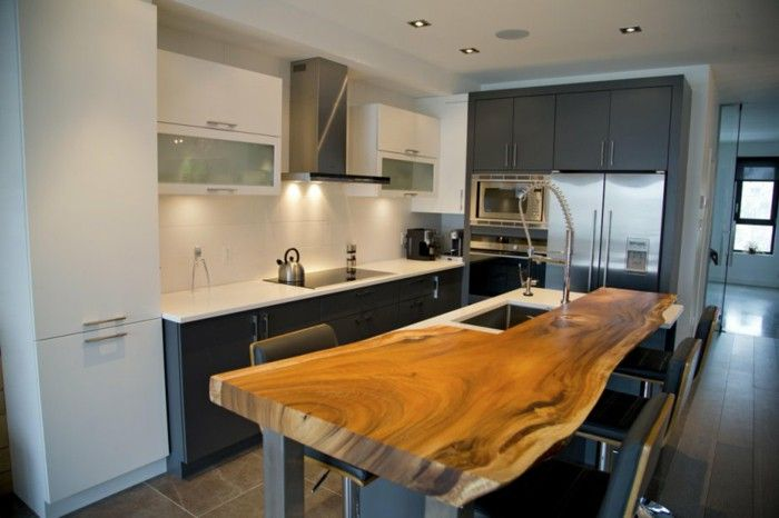 Natural Wood Work Surface Recycling Wood Kitchen Design Kitchen