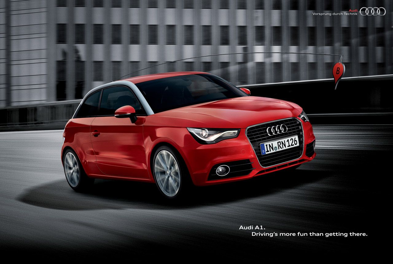 Audi A1 From A To B With An Hint Of New Media Adv Spice Audi A1 Audi Car Ads