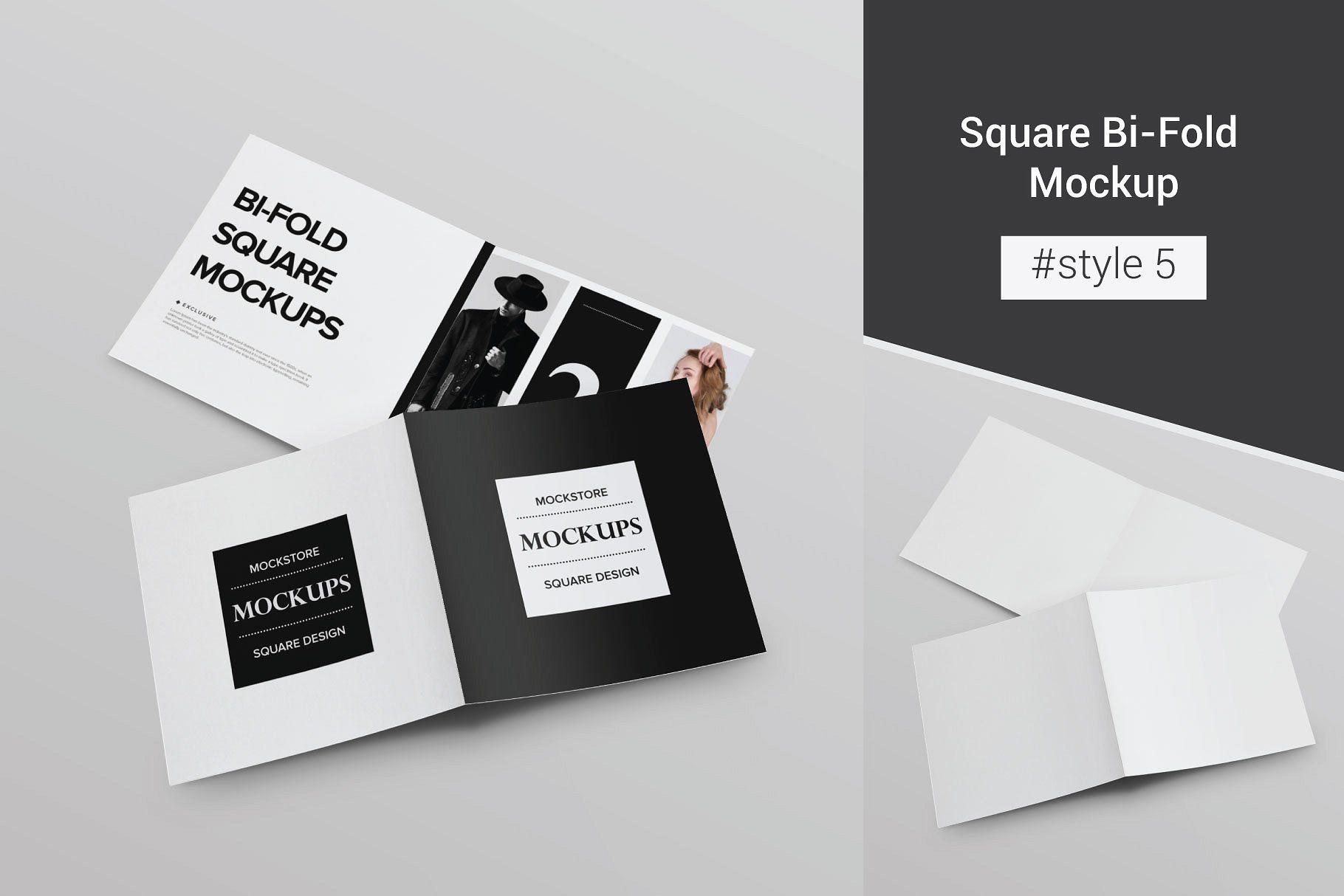 Bi Fold Brochure Mockup 8 Style Bi Fold Brochure Business Card Mock Up Brochure