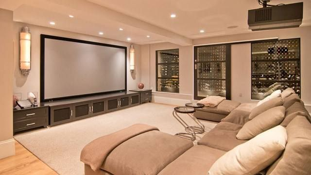 I Will Have A Home Theater Room One Day. Entertainment Room: Big Tv U0026 Couch  U0026 Wine In The Walls Part 40