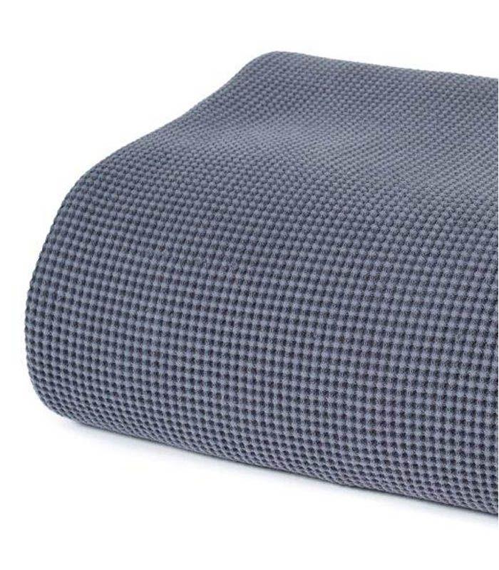 jet de canap couvre lit gris 100 coton lav bedroom. Black Bedroom Furniture Sets. Home Design Ideas