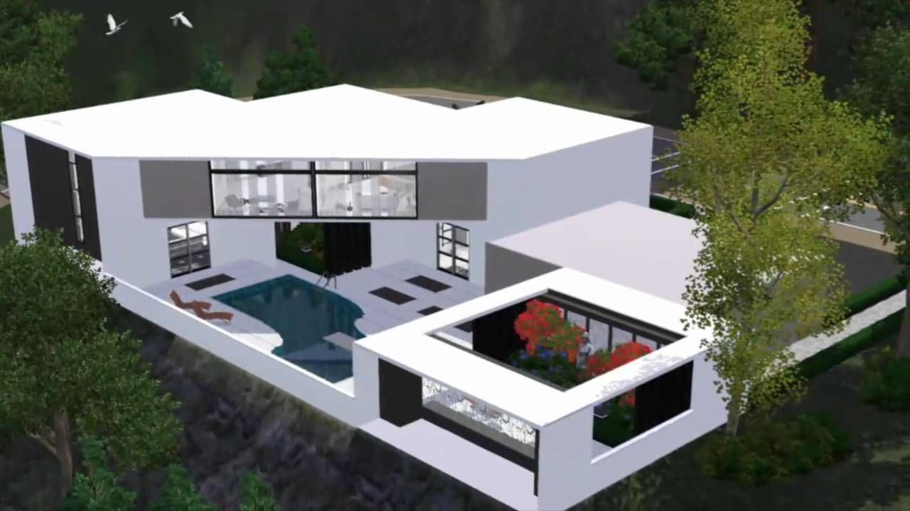 Superb Modern Sims 3 Modern House Blueprints On Home Design