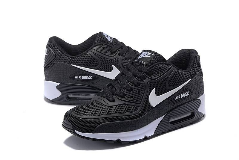 Fashion Nike Air Max 90 KPU Black White Special Sale