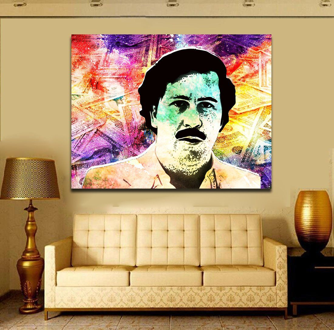 Pablo Money Pop Art Framed Canvas Wall Art - Royal Crown Pro | Royal ...