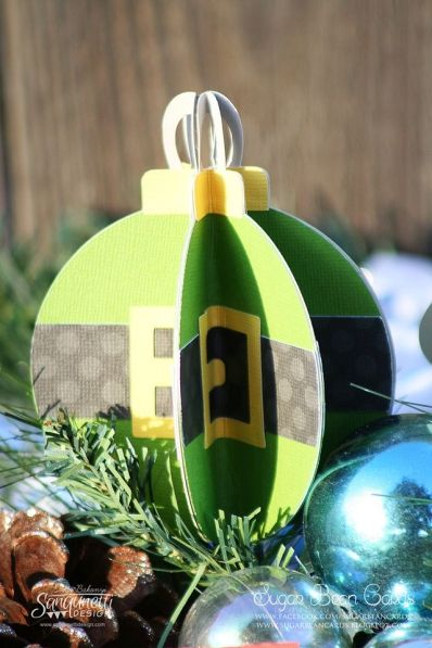 3d ornament created from christmas elf svg cutting file great paper crafting idea for your silhouette or cricut projects