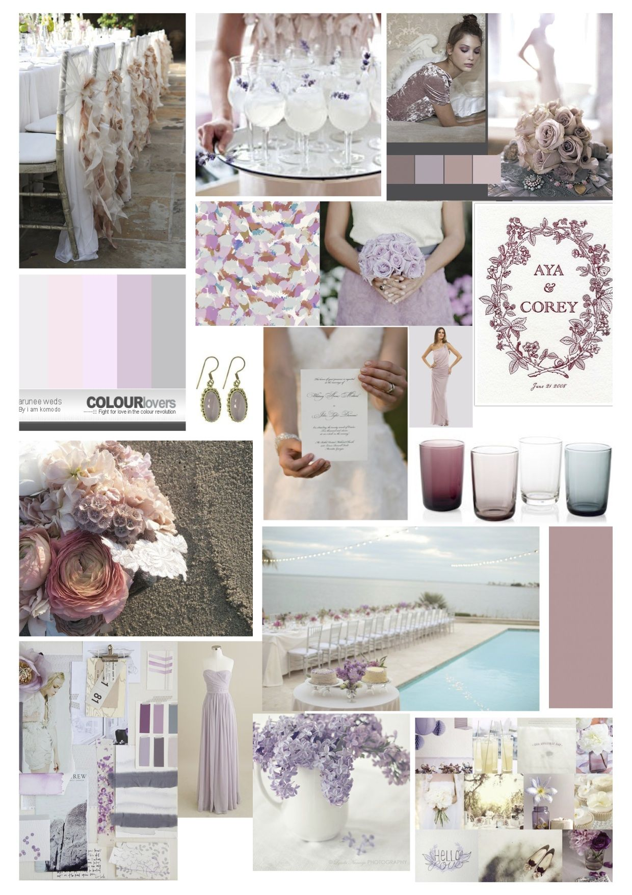love the mauve color for bridesmaid dresses with blush colored ...