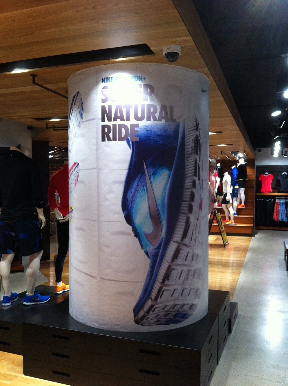 Pitt Display Nike Retail Street Shoe Ride Super Column Wrap Natural 7tqtgw