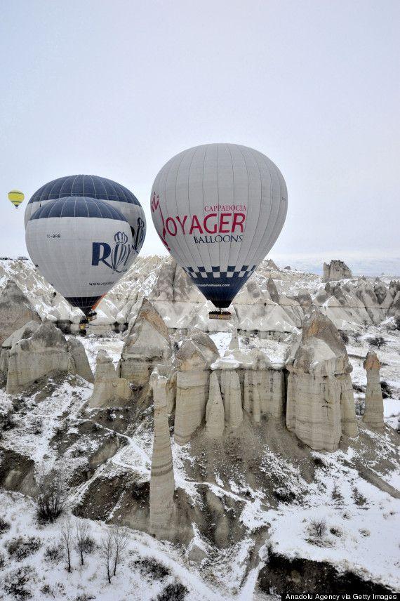 Hot air balloons of Cappadocia #turkeydestinations #turkey #destinations #air #balloon