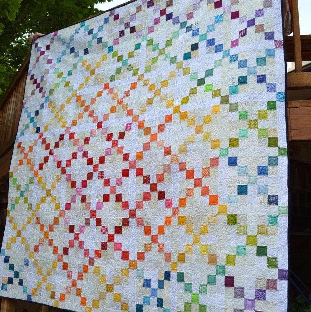 Super Scrappy Single Irish Chain Quilt Rainbow Quilts