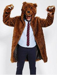 Workaholics Bear Coat - Urban Outfitters