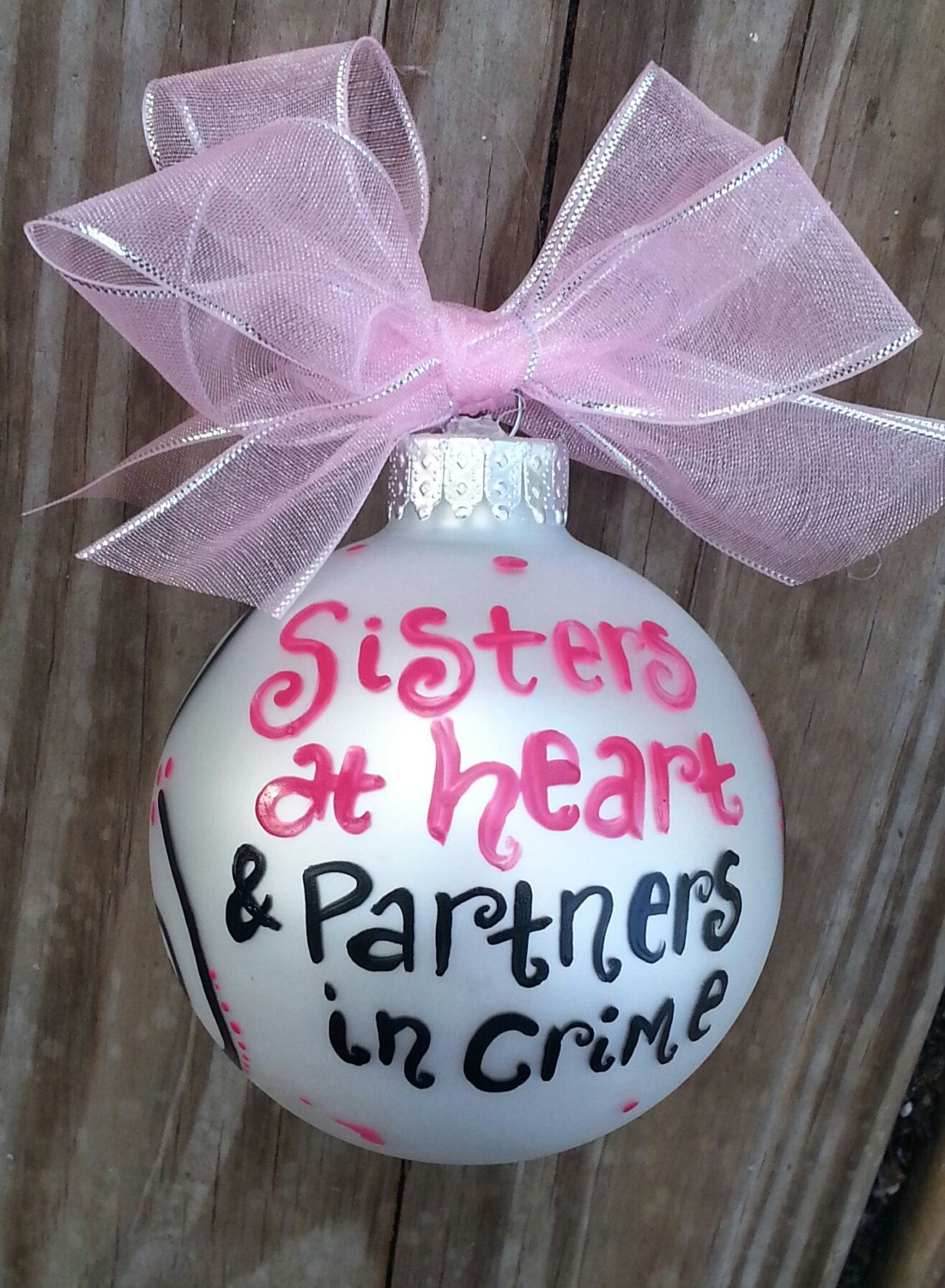 best friend sisters at heart partners in by jessicakdesigns 1200 best friends ornament - Best Friend Christmas Ornaments